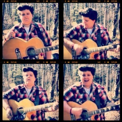 "Stills from ""The King's Garden"" video shoot."