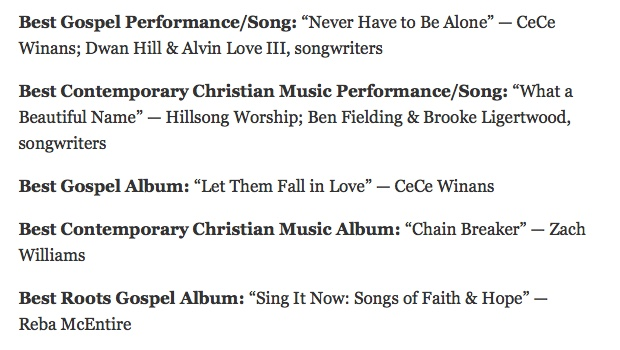 Jesus at the Grammys